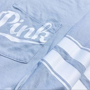 PINK Victoria's Secret Tops - VS Pink lightweight cotton pocket hoodie